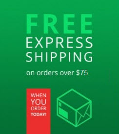 Free Shipping on orders $75 and up!